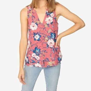 Sanctuary Beverly Pink Floral Sleeveless Top Large
